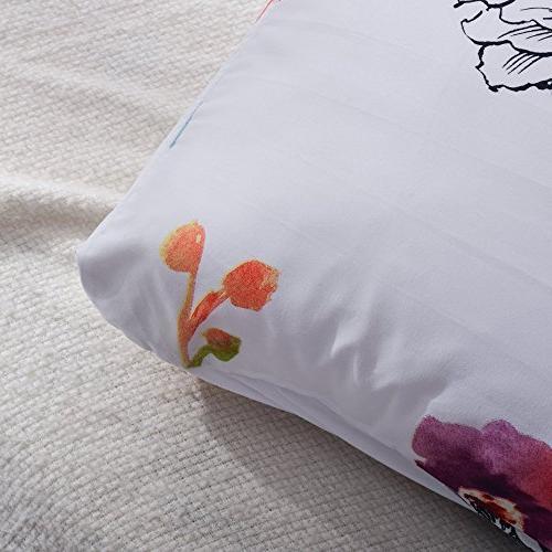 Leadtimes Duvet Set Queen Boho Hotel Comforter Cover Soft Lightweight Cover Shams
