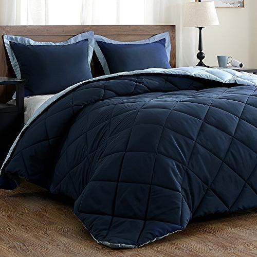 downluxe Set Pillow - - Reversible Comforter