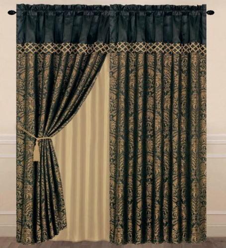 Jacquard Floral or Curtain Set