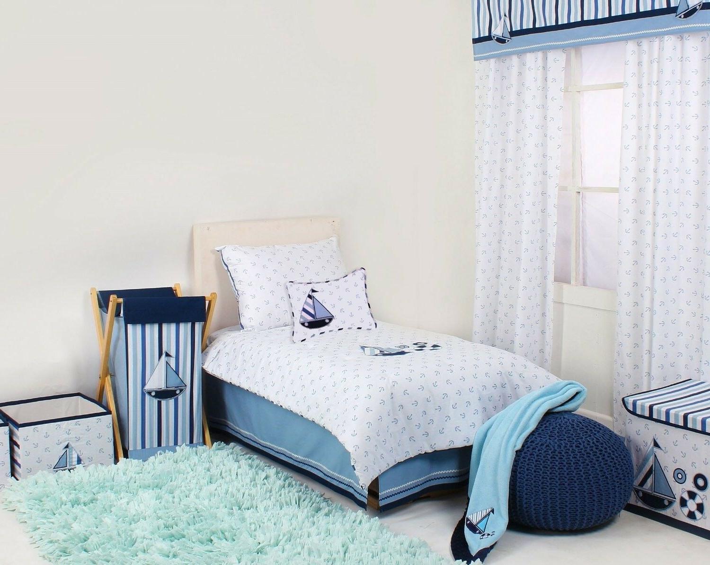 Little Sailor Boys 4-Piece Toddler Bedding Set 100% Cotton C