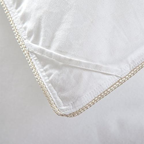 LUXURIOUS GOOSE Comforter Insert, 1200TC - 100% Egyptian Cover, 50 oz White
