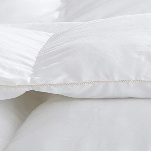 LUXURIOUS GOOSE Duvet Insert, King Size, 1200TC - 100% Cotton Cover, 50 White Color
