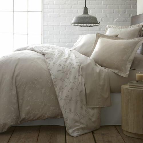 Luxury 100-percent Cotton Sateen Floral Print Farmhouse Bedd