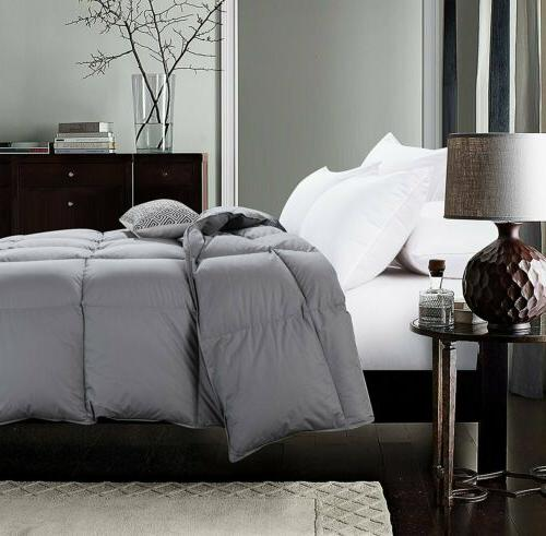 Luxury Goose Down Comforter Size Bedding