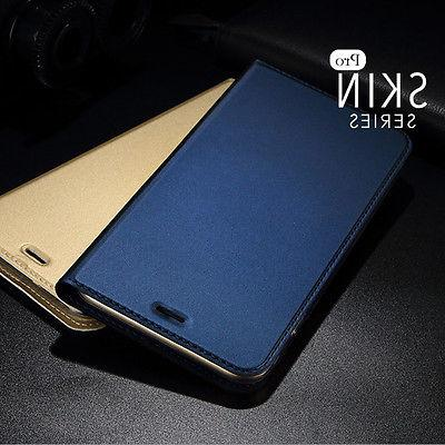 Luxury Magnetic Slim Leather Flip Wallet Card Case Cover For