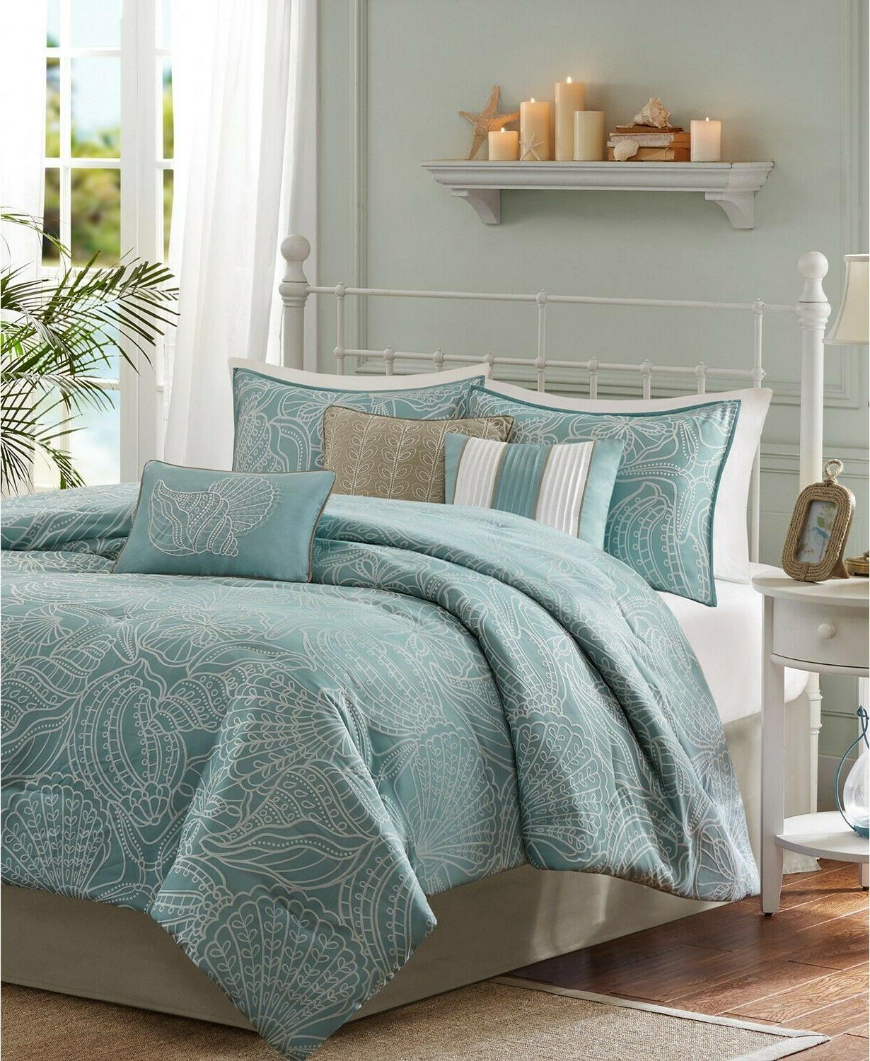 Madison Park Carmel Queen Size Bed Comforter Set Bed in A Ba