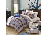 Chic Home 8 Piece Manchester Plaid Printed Reversible Backin