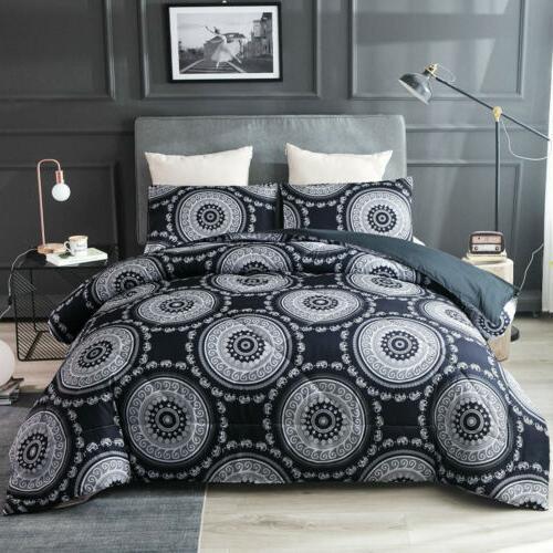 Mandala Comforter Set Light Bohemian Bedding Quilt Microfibe