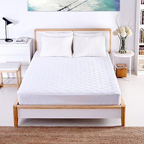 Sable Mattress Pad, Protector Quilted Cover Topper with FDA Down Alternative Fill, Mite Pocket Fitted Inch