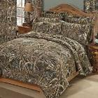 Realtree Max-5 Camo 7 Pc KING Comforter Set & Throw Blanket