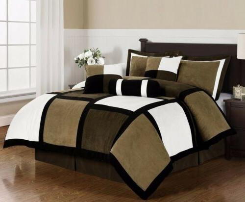 White Patchwork 7-Piece Comforter