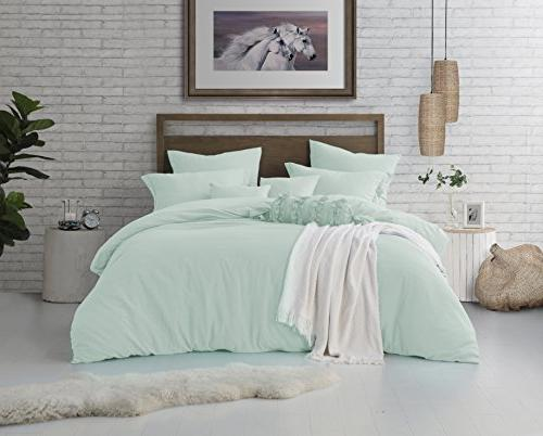 microfiber washed crinkle duvet cover