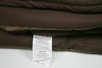Madison MP10-905 7 Faux Suede Comforter Set King Size Brown