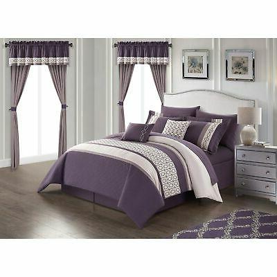 Chic Home Piece Comforter Block
