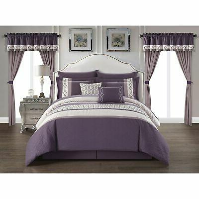 mykie 20 piece comforter set color block