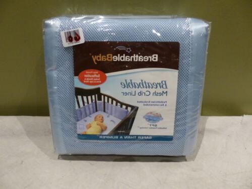 na04 blue 10112 mesh crib liner