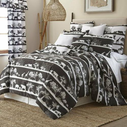 new comforter set black white african safari