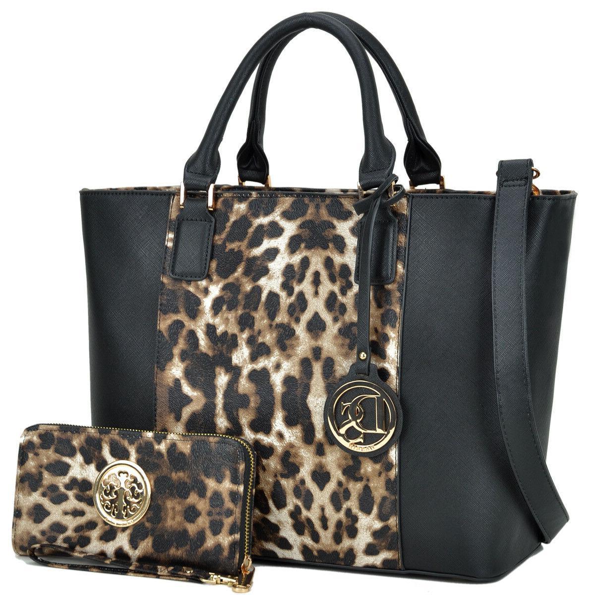 Dasein Womens Handbag Leather Tote Bag Satchel Shoulder Bag
