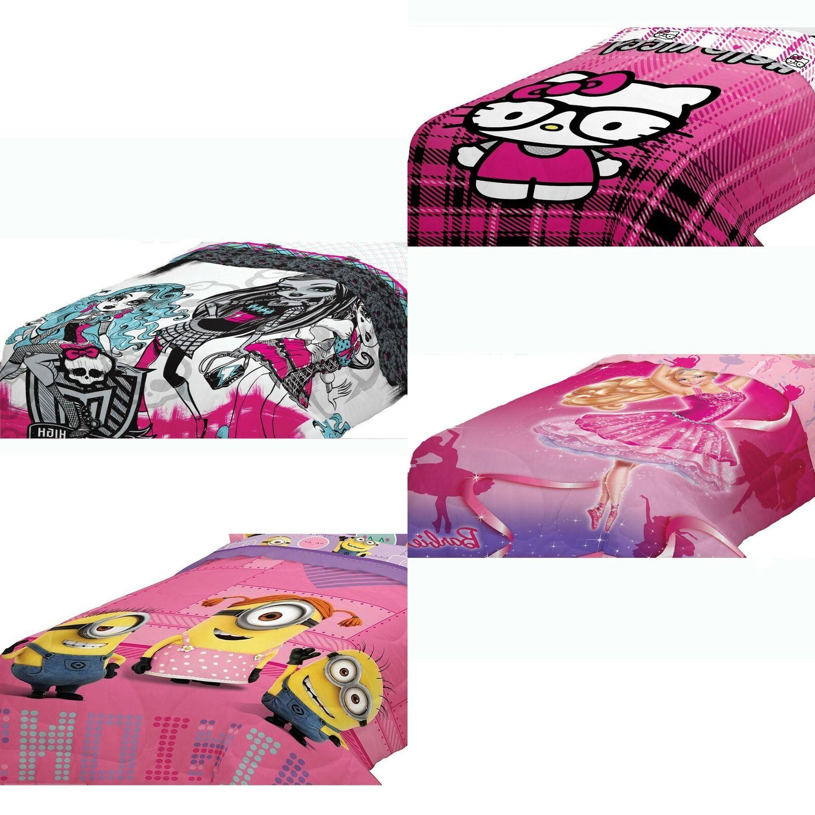 nEw GIRLS THEMED BED COMFORTER - Hello Kitty Barbie LaLaLoop