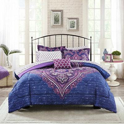 New Purple Comforter Set With Sheets Bedding Decor Bedspread