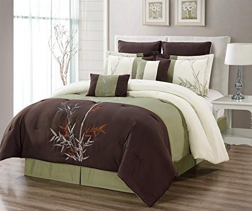 oversize brown beige sage green