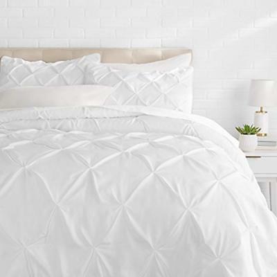 "Pinch Pleat Comforter Set - King, Bright White Home "" Kitche"