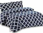 Utopia Bedding Printed Comforter Set Twin Navy with 2 Pillow