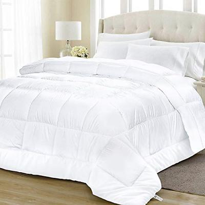 queen size goose down comforter white plush
