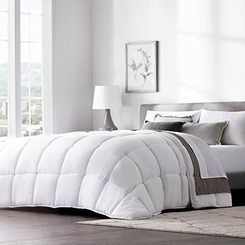 WEEKENDER Hotel-Style Comforter Use as or Stand-Alone Comforter Hypoallergenic - All Seasons Tabs - King - White