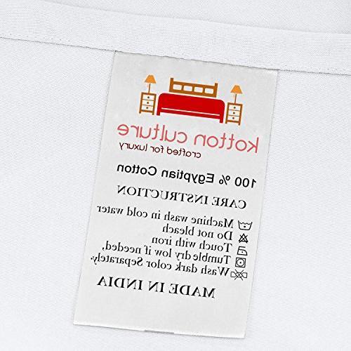 Kotton Culture Premium 3 Piece Cover with Ties 100% 600 Thread Count Hypoallergenic
