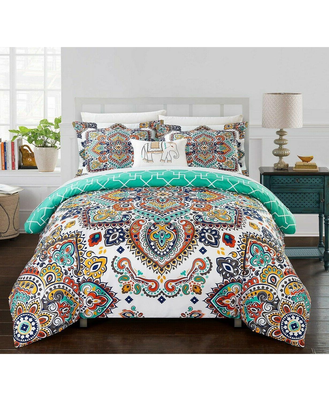 raypur 6 pc boho reversible paisley comforter