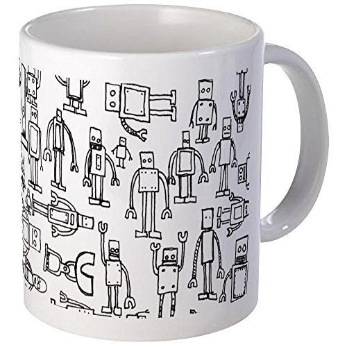 robots mug unique coffee mug coffee cup