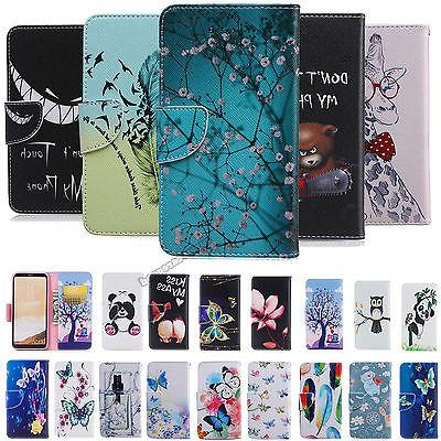 For Samsung Galaxy Note 5 S8 Note8 Wallet Flip Magnetic Patt