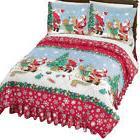 Santa Christmas Comforter Set w/ Shams, by Collections Etc