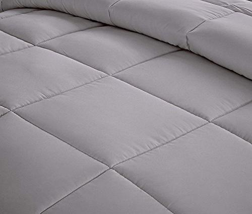 Unique All Goose Down Alternative Quilted Comforter Sets-Hypoallergenic-Plush Duvet Insert