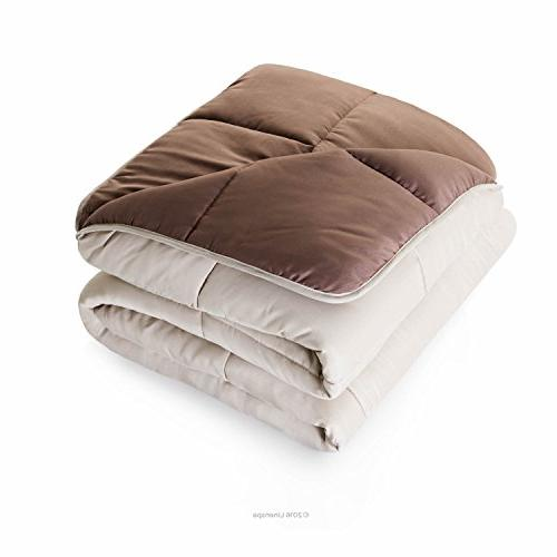 Linenspa Alternative Quilted - Hypoallergenic - Fill - Duvet or Stand-Alone Comforter - -