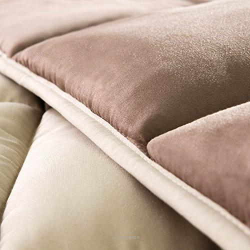Linenspa All-Season Alternative Quilted Comforter Hypoallergenic Plush Fill - Duvet or Stand-Alone -