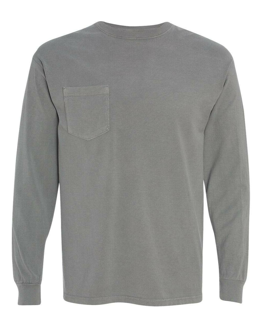 NWOT Set of 2 LONG sleeve Comfort Colors POCKET tees size L: