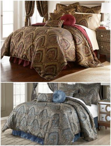 seville 9 piece jacquard paisley oversized comforter