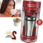 Hamilton Beach Single Serve Coffee Maker Flex Brew Using Adj