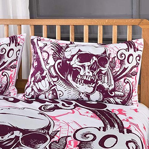 YSJ Duvet Cover Full Queen King with Zipper Closure,Ties-Black Pattern Size Bedding Set Comforter