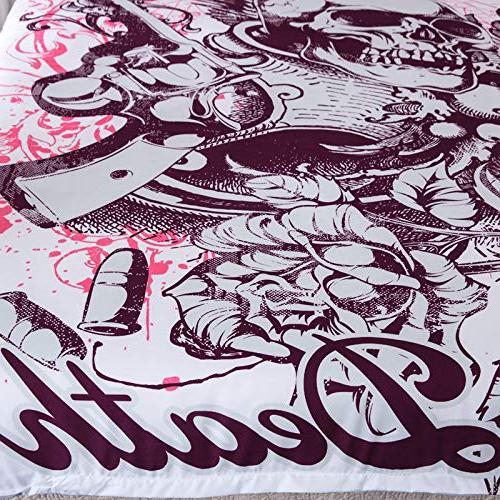 YSJ Duvet Zipper Pattern Printed-King Set