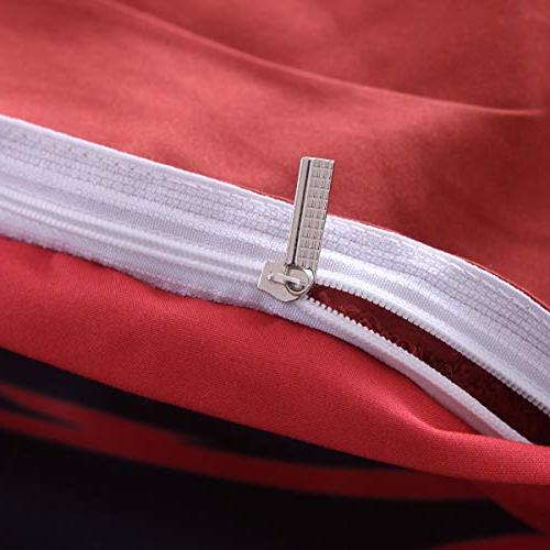 YSJ Twin Queen Duvet Zipper Pattern Printed-King Size Set Pillowcases