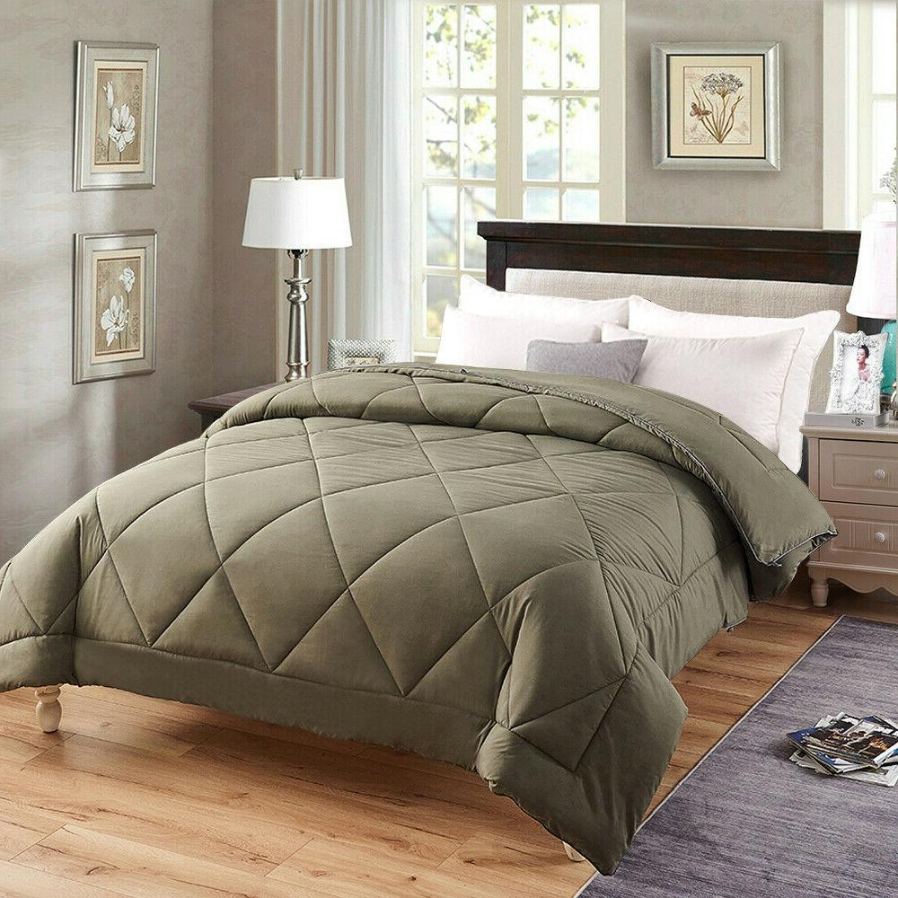 King Size Comforter All Season Lightweight Quilted Down Alte