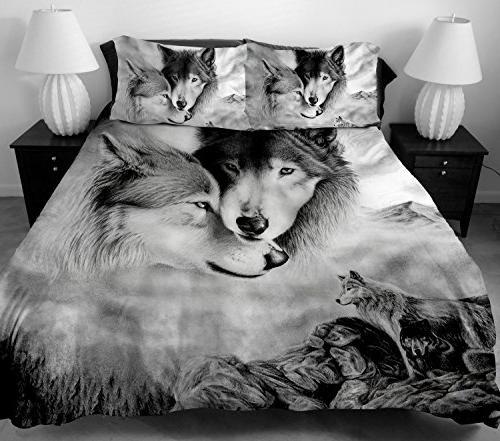 wolf duvet cover set twin
