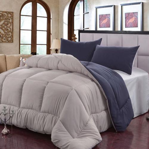King Queen Comforter Set All-Season Reversible Down Alternat
