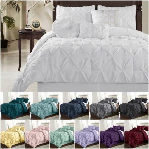 sydney pinch pleat pintuck bedding comforter set