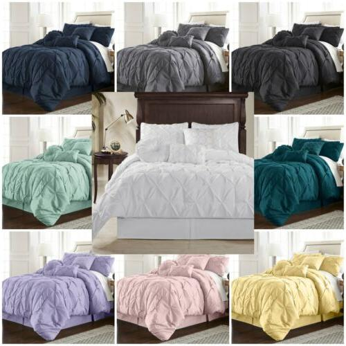 sydney pinch pleat pintuck bedding comforter set