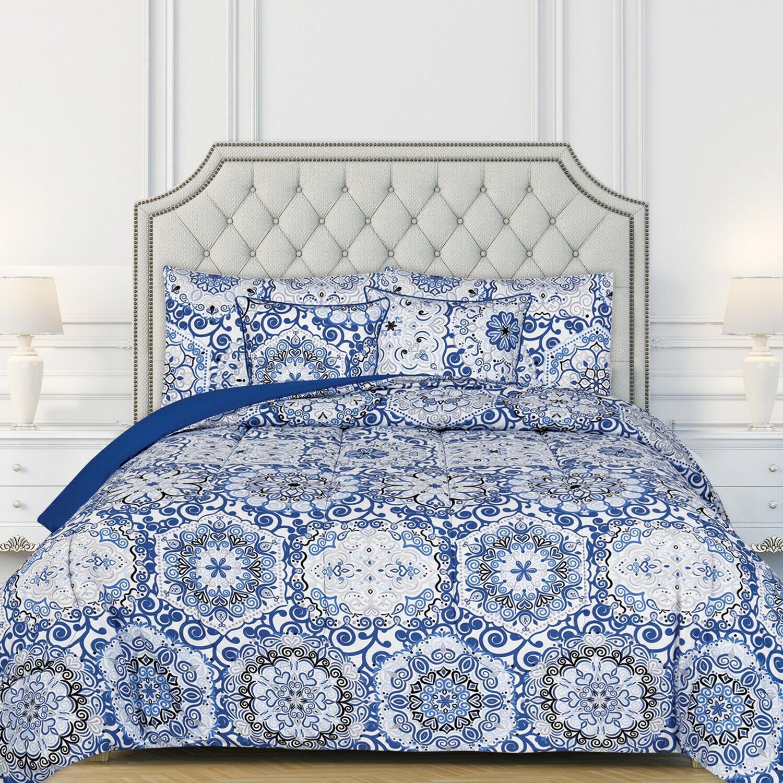 ultra soft 5 piece reversible comforter set