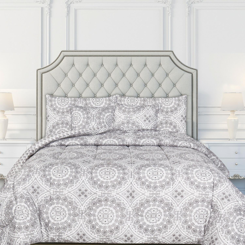 Ultra Soft Reversible Comforter Set Hypoallergenic Printed Comforter